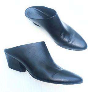 VINCE Vigo black leather mules size 7.5